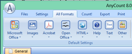 the 'All Formats' menu