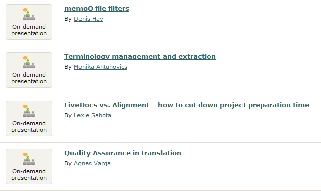 on-demand presentations